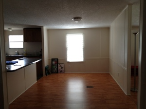 Our empty dining room in the new house...
