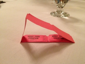 "My ticket art was much more boring, and I could only make a triangle.  The Boy said, ""That's not even equilateral, Mom."""