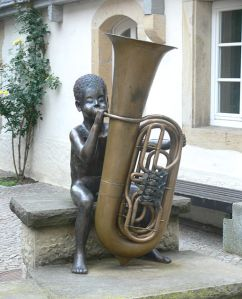 boy with tuba