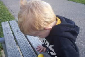 My little blond boy, once upon a time...