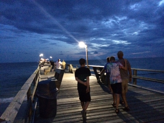 evening walk on the pier