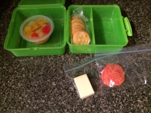 homemade lunchable setup
