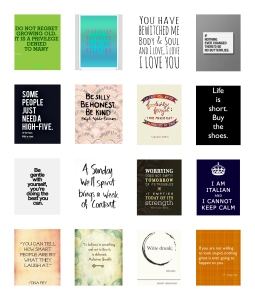 Pinned Quotes into EC stickers