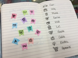 doodle planner icons